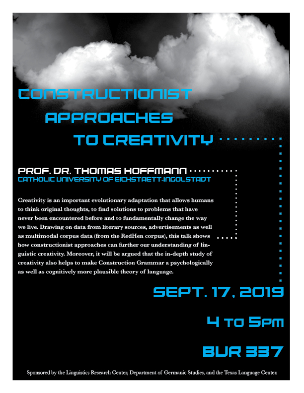 Talk by Prof. Dr. Thomas Hoffmann: Constructionist Approaches to Creativity