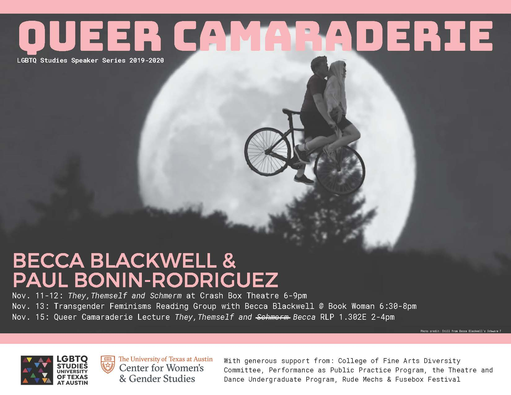 Queer Camaraderie is back with Becca Blackwell