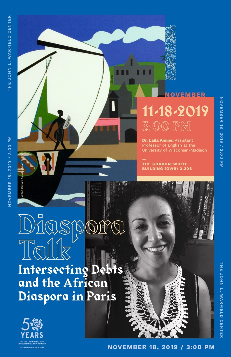 Diaspora Talk: Intersecting Debts and the African Diaspora in Paris with Dr. Laila Amine