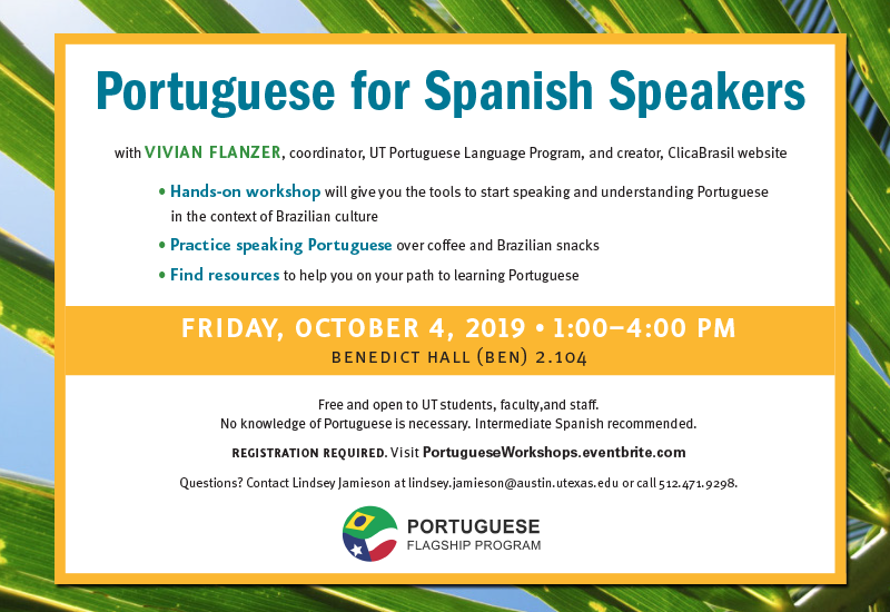 Portuguese for Spanish Speakers Workshop