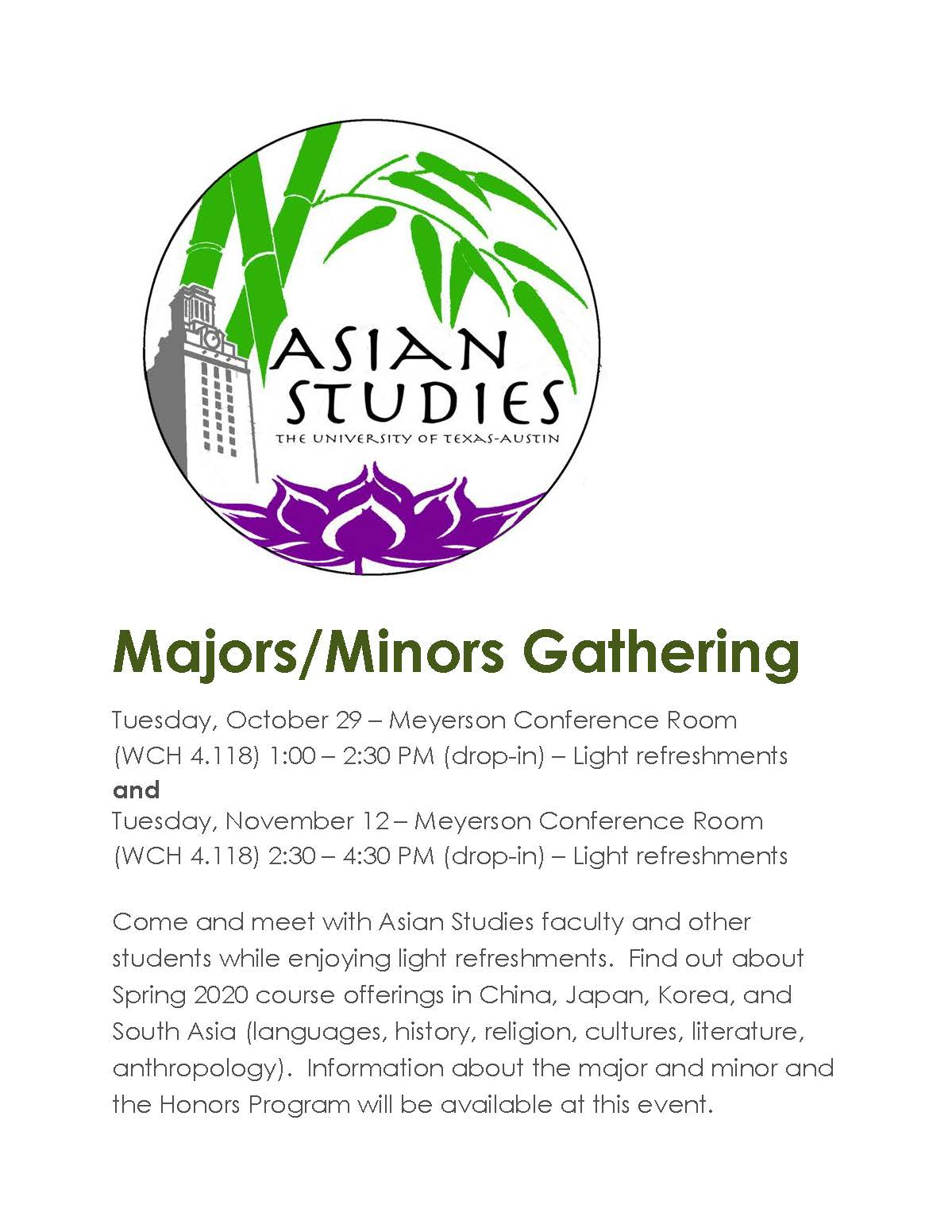 Majors/Minors Gathering (drop-in)