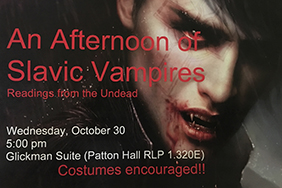 An Afternoon of Slavic Vampires: Readings from the Undead