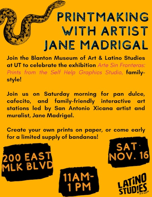 Printmaking with artist Jane Madrigal