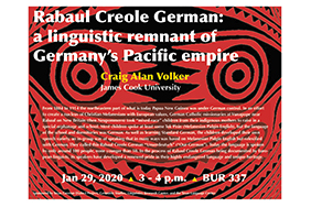 Talk by Craig Alan Volker on Rabaul Creole German: a linguistic remnant of Germany's Pacific empire