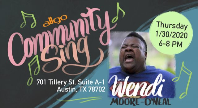 allgo's Community Sing with Wendi Moore-O'Neal