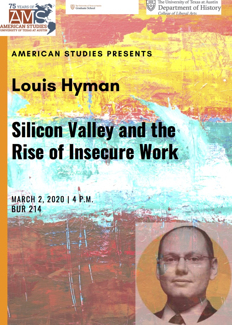 Public Talk: Louis Hyman of the ILR School of Cornell University: