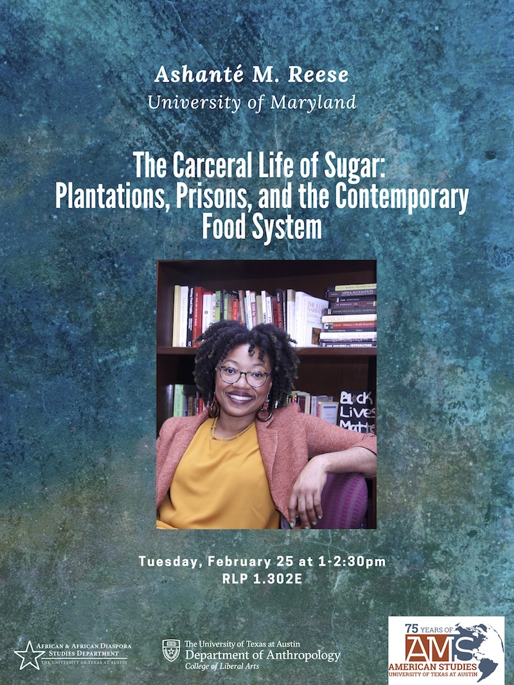 Public Talk: Ashanté M. Reese of the University of Maryland: