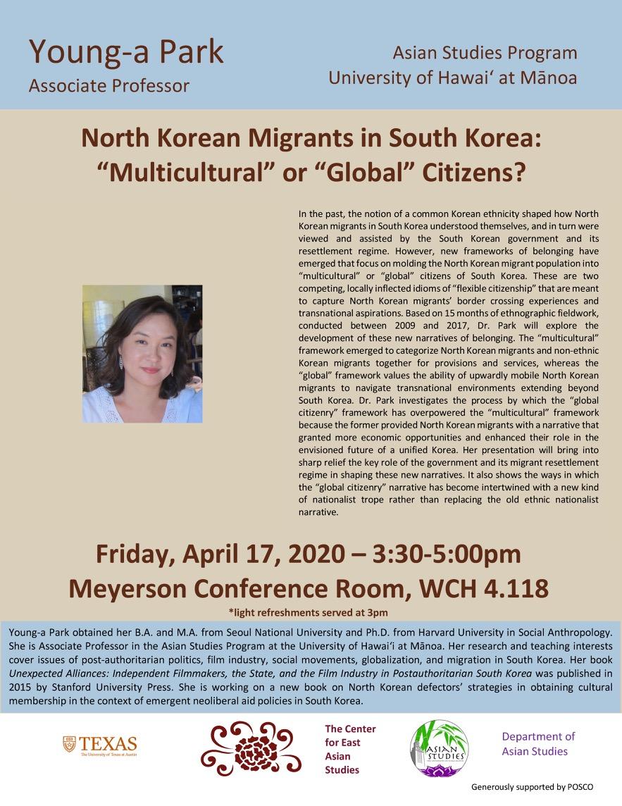 Talk: North Korean Migrants in South Korea: