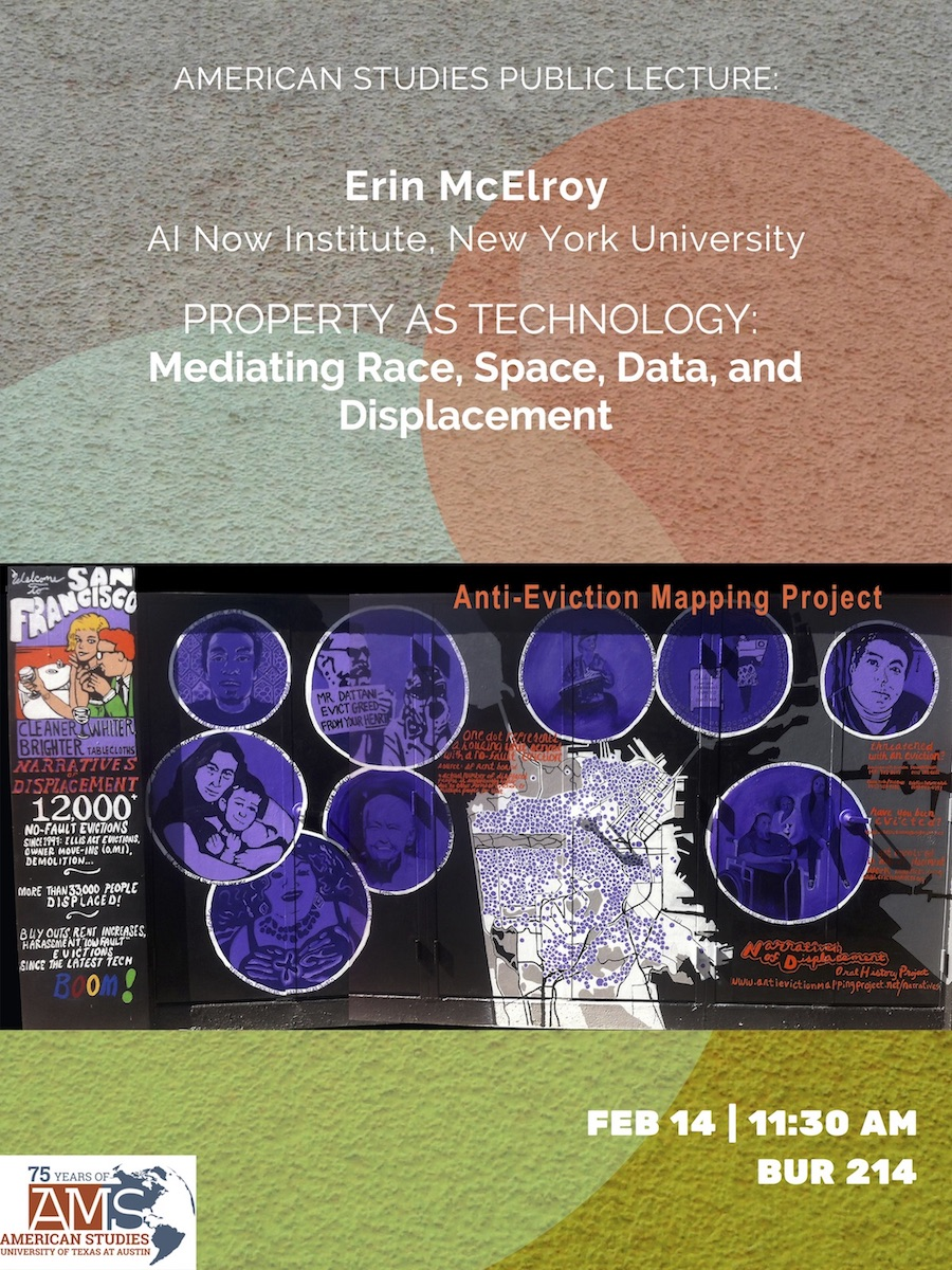 Public Talk: Erin McElroy of AI Now Institute, New York University:
