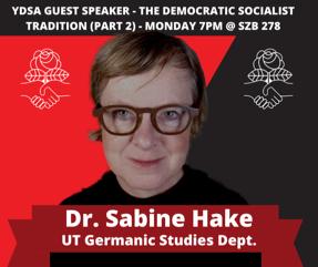 YDSA Guest Speaker - The Democratic Socialist Tradition (Part 2)