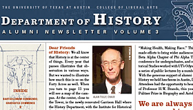 Vol. 3 of History Department Alumni Newsletter published
