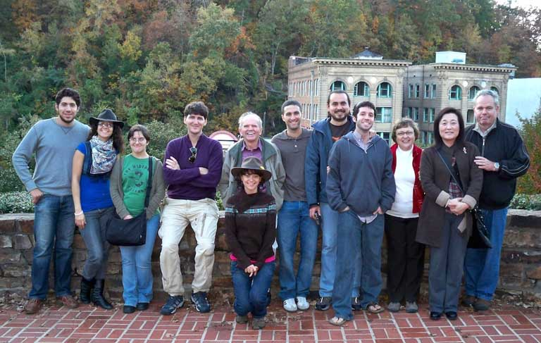 Participants in the Department field trip to Arkansas, at Hot Springs, Arkansas, with local field trip leader.
