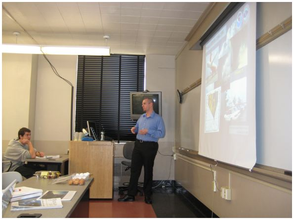 Kevin Scharfenberg guest lectures for Troy Kimmel