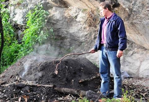Matt LaFevor doing fieldwork