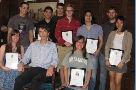 Undergraduates Honored at End of Semester Party