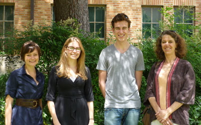 L to R: Libby Sanders, Susannah Duerr, Tyler Watts, Dr. Martha Newman (not pictured: Merrit Martin)