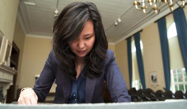 Esther Chung, APA Neighborhood Liaison of the Austin History Center.