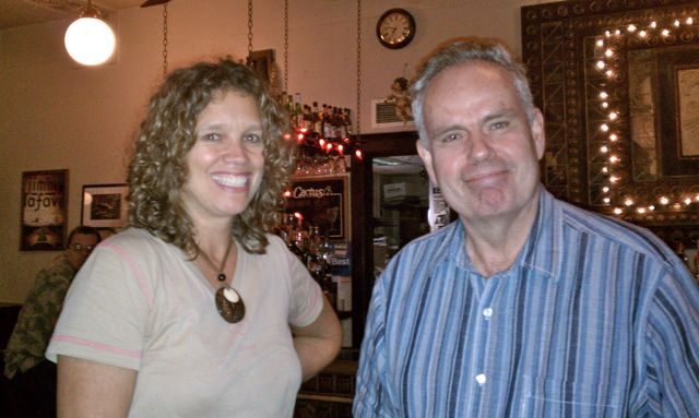 Dr. Christie and Dr. Knapp at the Cactus Cafe