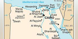 2010 partial map of Egypt from the Perry-Castañeda Library Map Collection of the UT Libraries System; map was produced by the U.S. Central Intelligence Agency