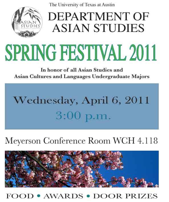 Department of Asian Studies Honors Undergraduates in Annual Spring Festival