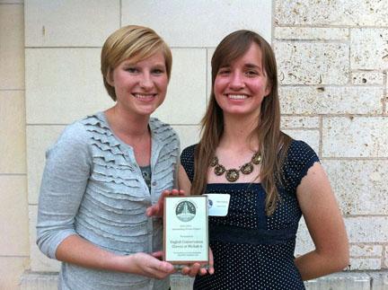 Elisabeth Eikrem and Katy Eyberg with their well-deserved Tower Award.