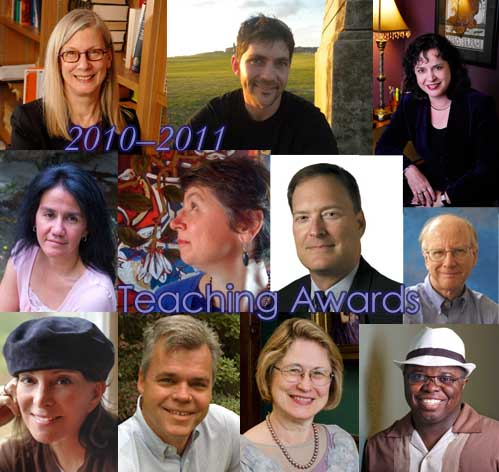 Eleven Department of English faculty members win major teaching awards