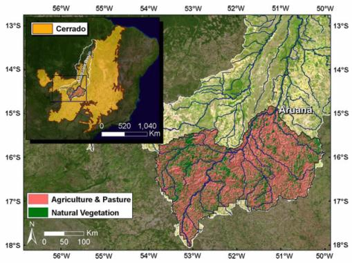 Deforestation and climate variability effects on the Araguaia River in Brazil