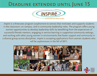 Deadline Extended for Inspire Applications