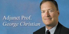 George Christian, adjunct professor of English, grad student in history