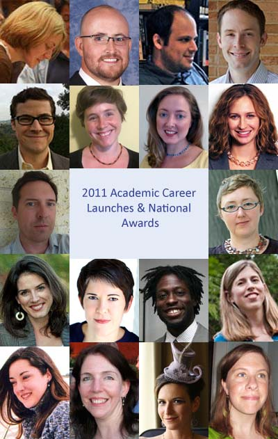 English Graduate Students: Academic Career Launches and National Awards