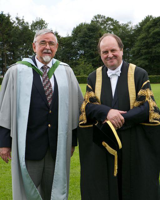 Professor Karl Butzer with University Chancellor Dr James Naughtie