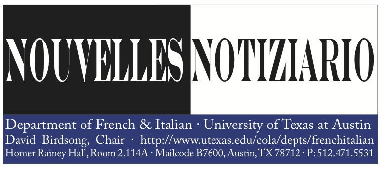 Fall 2011 Department of French & Italian Newsletter Now Available