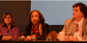 Profs. Jacqueline Jones, Wilma King, and Steven Deyle