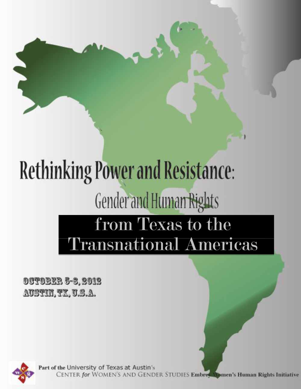 Convocatoria/Call for Proposals: Rethinking Power & Resistance: Gender & Human Rights from Texas to the Transnational Americas