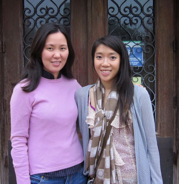 Esther Chung, AHC's Asian American Neighborhood Liaison and Kim Nguyen, Asian American Studies Major