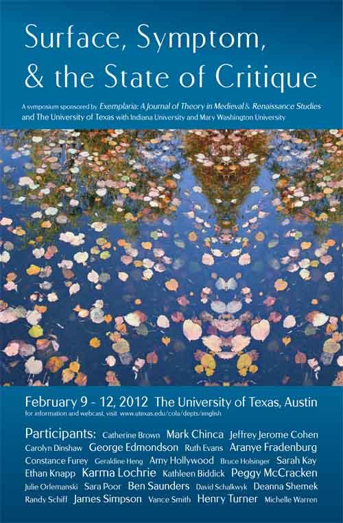 'Exemplaria' Symposium: February 9-12