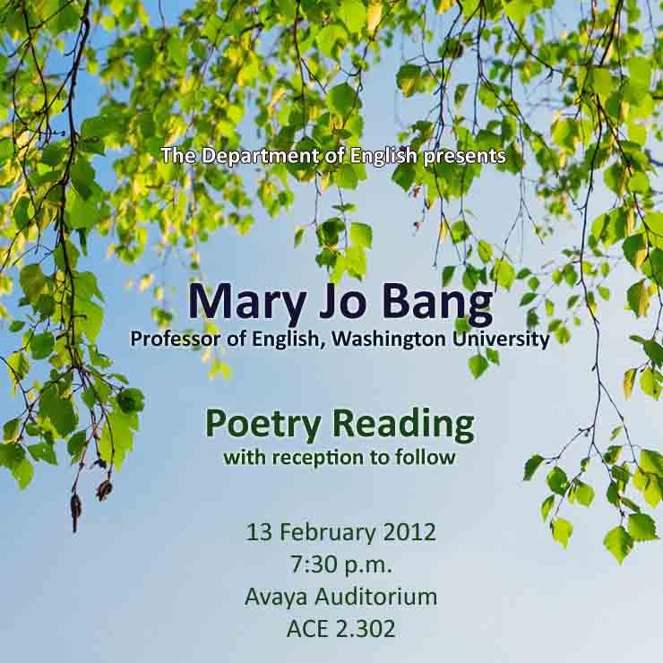 Washington University Professor Mary Jo Bang Poetry Reading on February 13