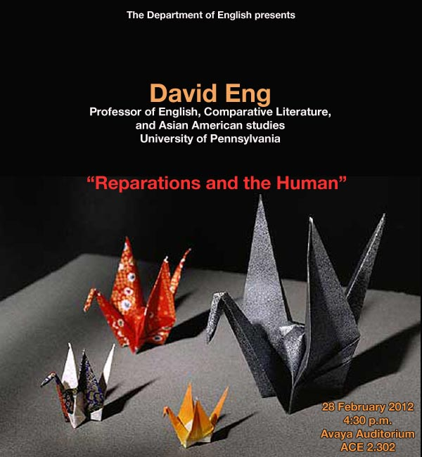 University of Pennsylvania Professor David Eng gives lecture on February 28, 2012