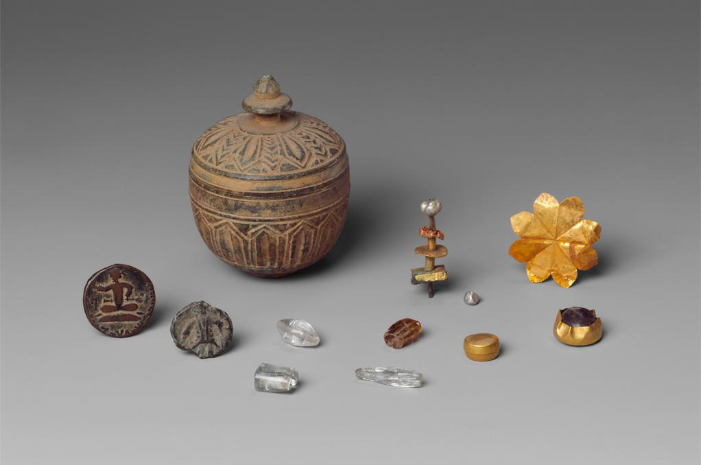 Reliquary (with contents) from the ancient Gandhara province of Pakistan. 1st century.