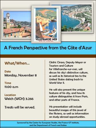 A French Perspective from the Côte d'Azur