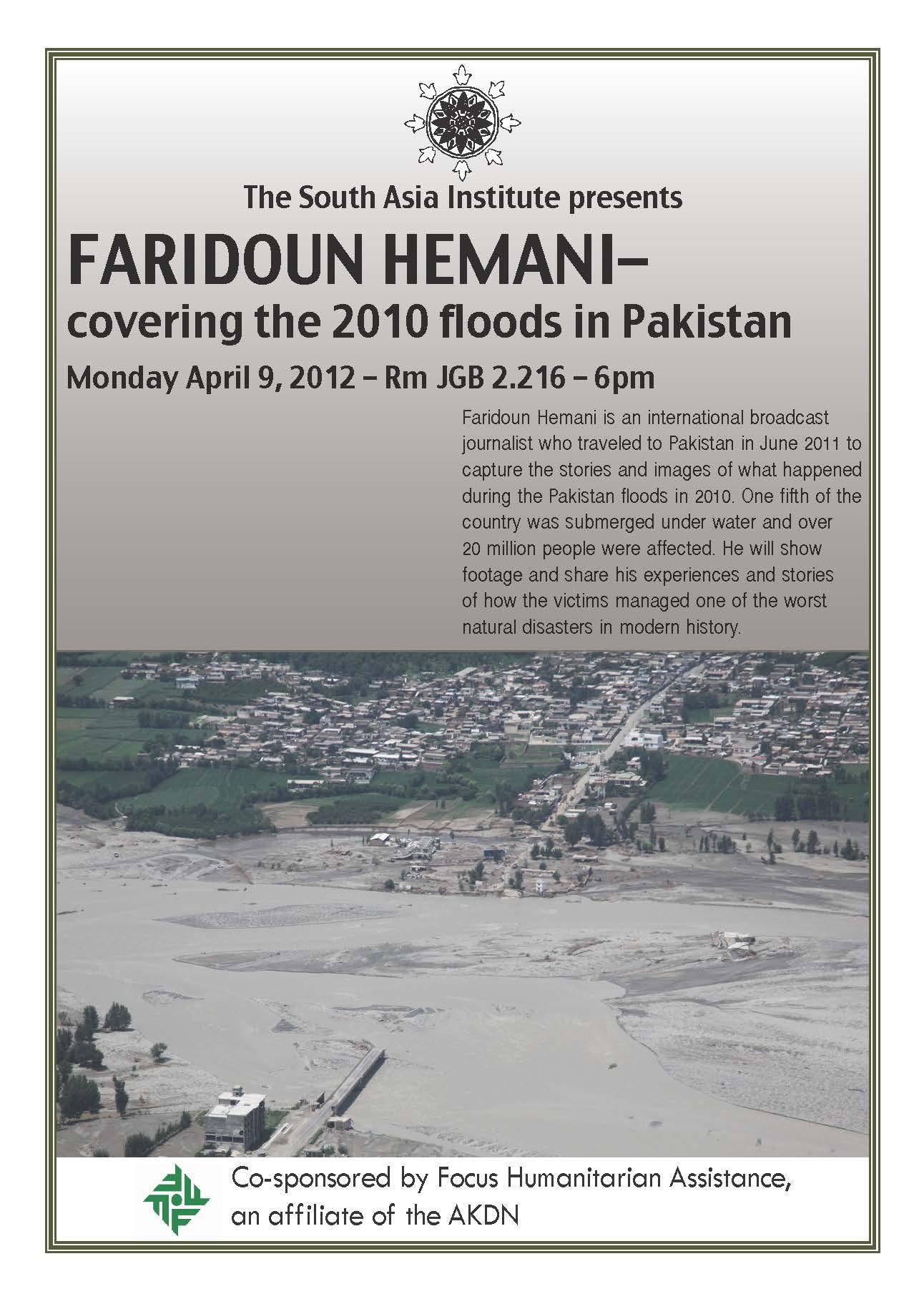 Faridoun Hemani - covering the 2010 floods in Pakistan