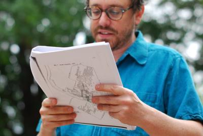 Dr. Eliot Tretter leads the Jane Jacobs East Austin Walk and Tour