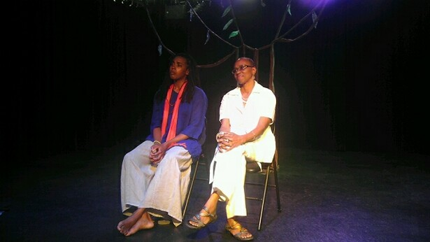 Performer Lenelle Moise and Dr. Omi Osun Joni L. Jones