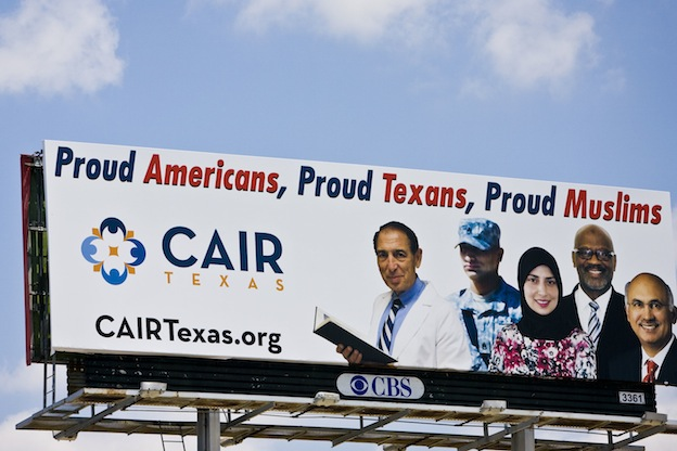 CAIR billboard recently posted in Houston.  Mr. Carroll is second from the right, among other Muslim Americans of Texas.
