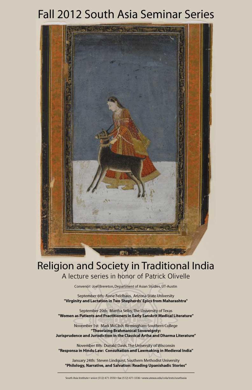 Fall 2012 South Asia Seminar Series