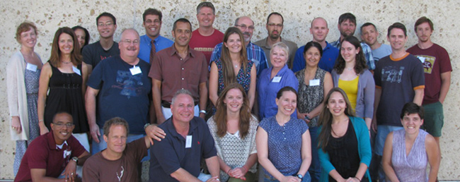 Group portrait of GLI 2012 participants at the Harry Ransom Center, UT Austin