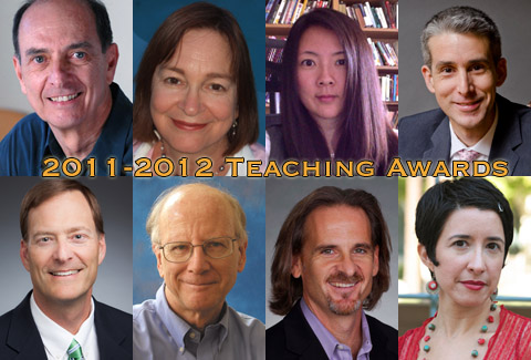 Eight Department of English faculty members win major teaching awards