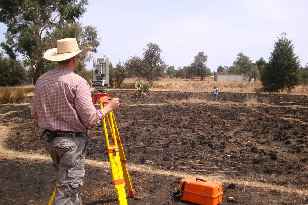 Matthew LaFevor prepares ground for an experimental plot in Tlaxcala, Mexico during dissertation research