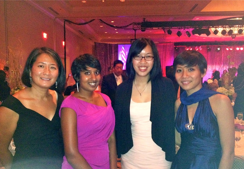 From left to right, Madeline Hsu, Lalini Pedris, Jennifer Tran and Tu-Uyen Nguyen