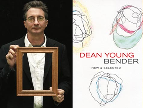 Dean Young and the book cover for 'Bender'